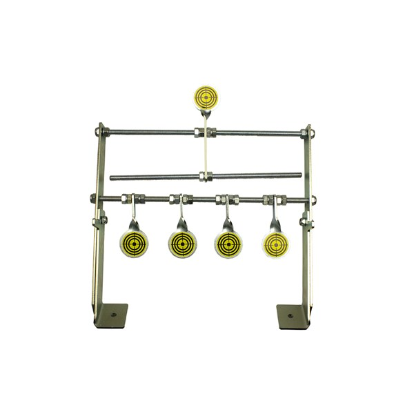 Alvo Aberto Rearmável Para Carabina 5 Pêndulos Full Metal