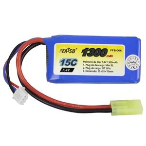 Bateria Airsoft Lipo Feasso FFB-006 (15C) 1300mAh 7.4v