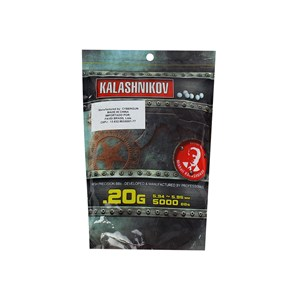 BBs Airsoft Munição Plástica 0.20g 5000un. - KBalashnikov