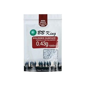 BBs Airsoft Munição Plástica BB King 0.43g 1000un.