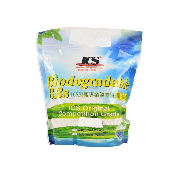 BBs Airsoft Munição Plástica Biodegradável 0.25g 3500un. - ICS