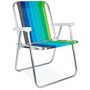 Cadeira Alta Dobrável Aluminio - Mor