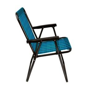 Cadeira De Praia Em Aço Pintado Até 110kg Xadrez - Mor