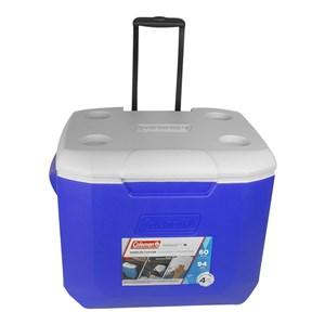 Caixa Térmica Wheeled Cooler 60QT 56.7 Litros Com Rodas Azul – Coleman
