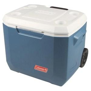 Caixa Térmica Xtreme 2 50QT 47.3 Litros Com Rodas Azul e Branco - Coleman