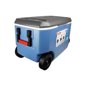 Caixa Térmica Xtreme 5 62QT 58 Litros Com Rodas Azul e Cinza – Coleman