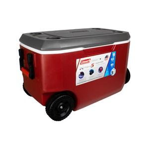 Caixa Térmica Xtreme 5 62QT 58 Litros Com Rodas Vermelho e Cinza – Coleman
