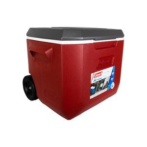 Caixa Térmica Xtreme 50QT 47.3 Litros Com Rodas Vermelho e Cinza – Coleman