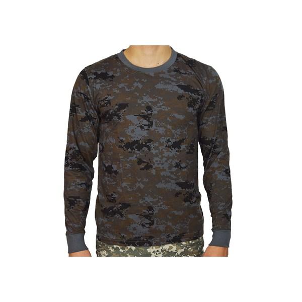 Camiseta Manga Longa Digital Petróleo - Bravo Militar