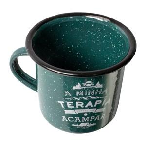 Caneca De Alumínio Esmaltada Verde - Guepardo