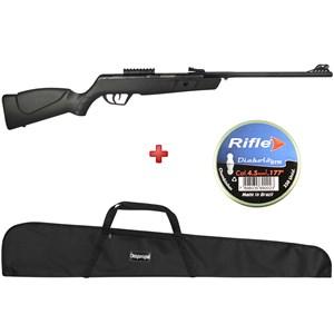 Carabina de Pressão CBC Jade MAIS Preta 4.5mm + Capa Simples + BRINDE Chumbinho Rifle