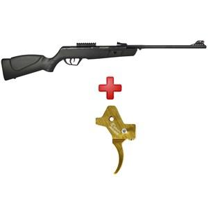 Carabina de Pressão CBC Jade MAIS Preta 5.5mm + Gatilho Ajustável Dourado
