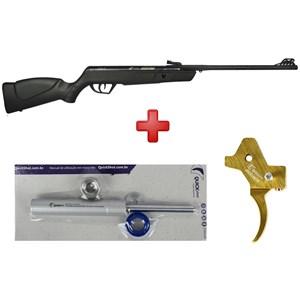 Carabina de Pressão CBC Jade Oxidada Preta 5.5mm + Gatilho + Gás Ram Q. S. 40 Kg