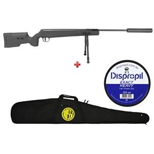 Carabina de Pressão Fixxar GP Sniper 1250 5.5mm + Capa Rossi + Chumbo Dispropil 5.5mm