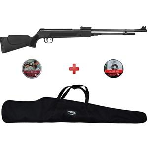 Carabina de Pressão Fixxar Spring Black 5.5mm + Capa Simples + Chumbinhos Gamo