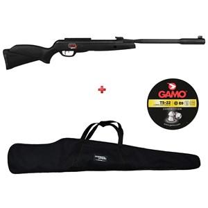 Carabina de Pressão Gamo Black Fusion 5.5mm + Capa 120 + Chumbo Gamo TS 22 5.5mm