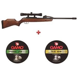 Carabina de Pressão Gamo Fast Shot 10X IGT + Chumbo Gamo Expander + Chumbo Gamo TS 22 5.5mm
