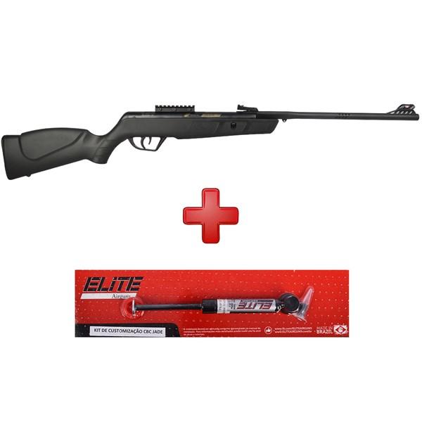 Carabina de Pressão Jade Mais Preta 5.5mm + Gas Ram Elite 45Kg - CBC