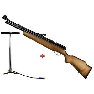 Carabina de Pressão Pcp B57 Madeira de Lei 5.5mm – Cbc + Bomba Manual 300 BAR