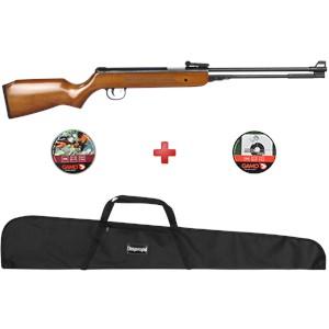 Carabina de Pressão QGK Under-B Wood 4.5mm + Capa Simples + Chumbinhos Gamo