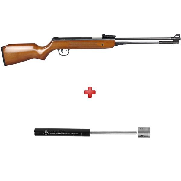 Carabina de Pressão QGK Under-B Wood 4.5mm + Kit Mola Gás Ram 50kg