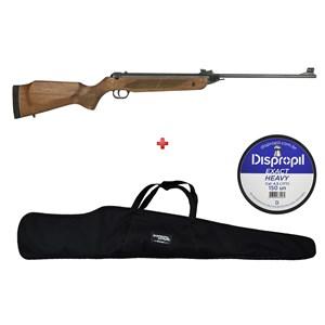 Carabina de Pressão Rossi Dione Madeira Rec 4.5mm + Capa 120 + Chumbo Dispropil 4.5mm