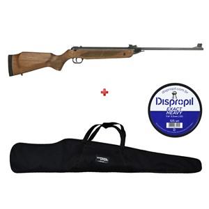 Carabina de Pressão Rossi Dione Madeira Rec 5.5mm + Capa 120 + Chumbo Dispropil 5.5mm