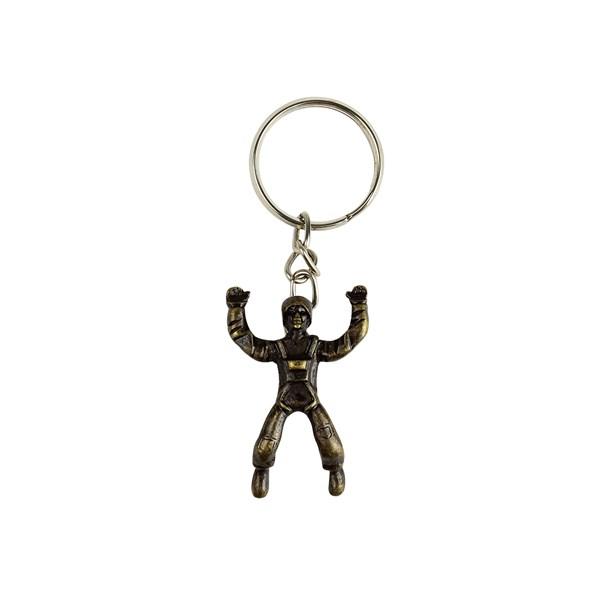 Chaveiro de Metal Homem Saltador Bronze