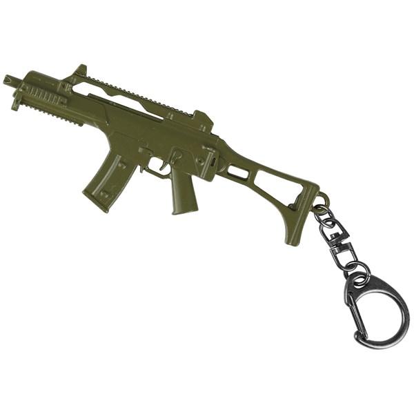 Chaveiro de Metal Mini Réplica Rifle G36