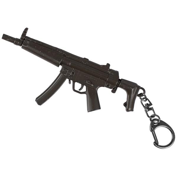 Chaveiro de Metal Mini Réplica Rifle MP5
