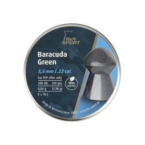 Chumbinho Baracuda Green 5.5mm 200un. - H&N