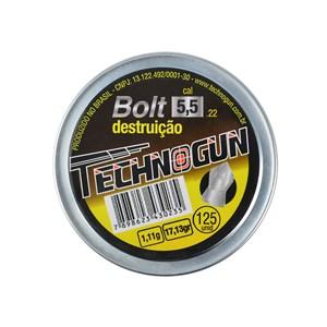 Chumbinho Bolt Destruição 5.5mm 125un. - Technogun
