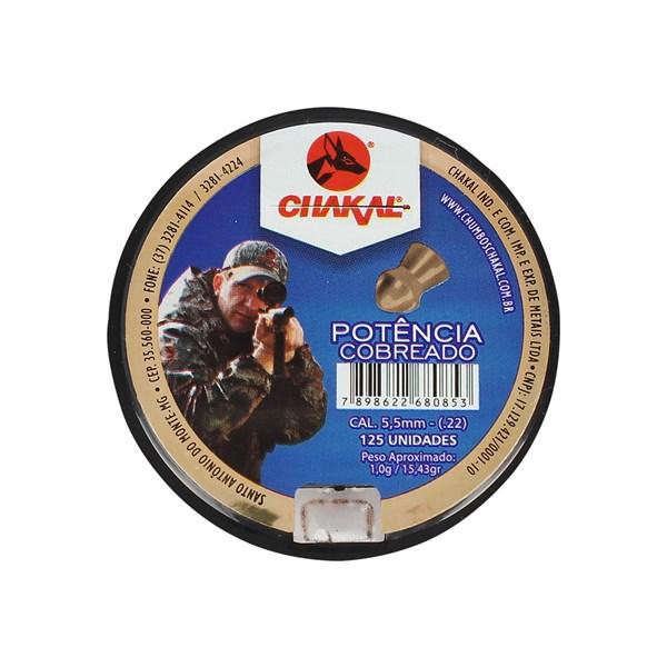 Chumbinho Cobreado Potência 5.5mm 125un - Chakal