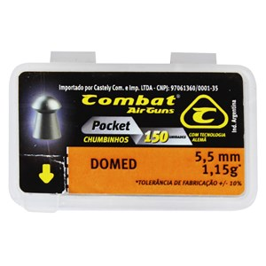 Chumbinho Domed 5.5mm 150un. - Combat