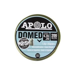 Chumbinho Domed 6.35mm 1.60g 25 Grains 200un. - Apolo