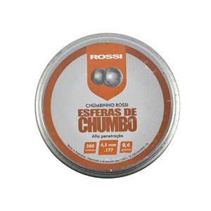 Chumbinho Esférico 4.5mm 500un. - Rossi