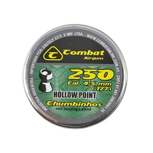 Chumbinho Hollow Point 4.5mm (250un.) - Combat