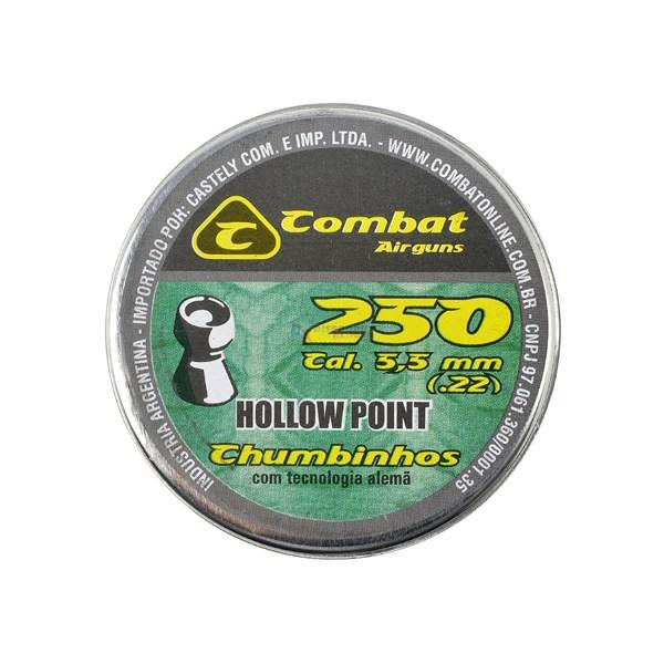 Chumbinho Hollow Point 5.5mm 250un. - Combat