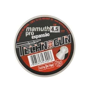 Chumbinho Mamuth Pro Expansão 4.5mm 250un. - Technogun