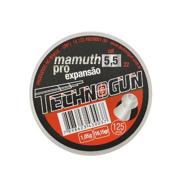 Chumbinho Mamuth Pro Expansão 5.5mm 125un. - Technogun