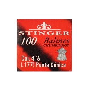 Chumbinho MD Ponta Conic 4.5mm 100un. - Stinger