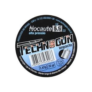 Chumbinho Nocaute 5.5mm 125un. - Technogun