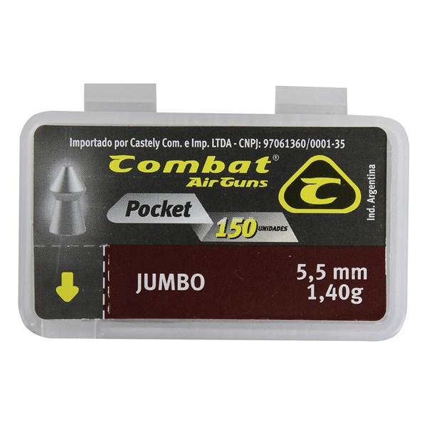 Chumbinho Pocket Jumbo 5.5mm 150un. - Combat
