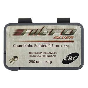 Chumbinho Pointed Nitro Silver 4.5mm 250un. - CBC