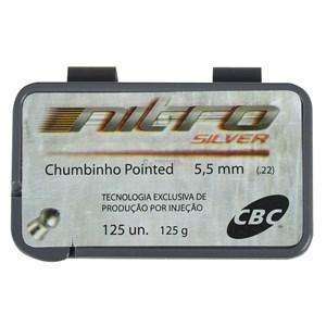 Chumbinho Pointed Nitro Silver 5.5mm 125un. - CBC