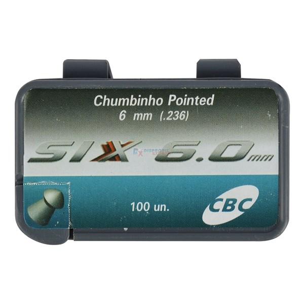 Chumbinho Pointed Six 6.0mm 100un. -  CBC