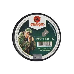 Chumbinho Potência 4.5mm 200un. - Chakal