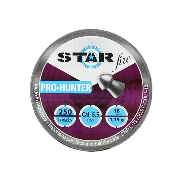 Chumbinho Pro Hunter 5.5mm 250un. - Star Fire
