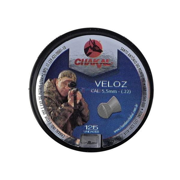 Chumbinho Veloz 5.5mm 125un. - Chakal