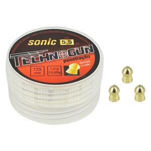 Chumbinhos Sonic Latonado 5.5mm 125un. - Technogun